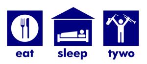 T-shirt (eat, sleep, tywo)